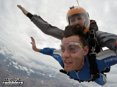 breath during tandem skydiving