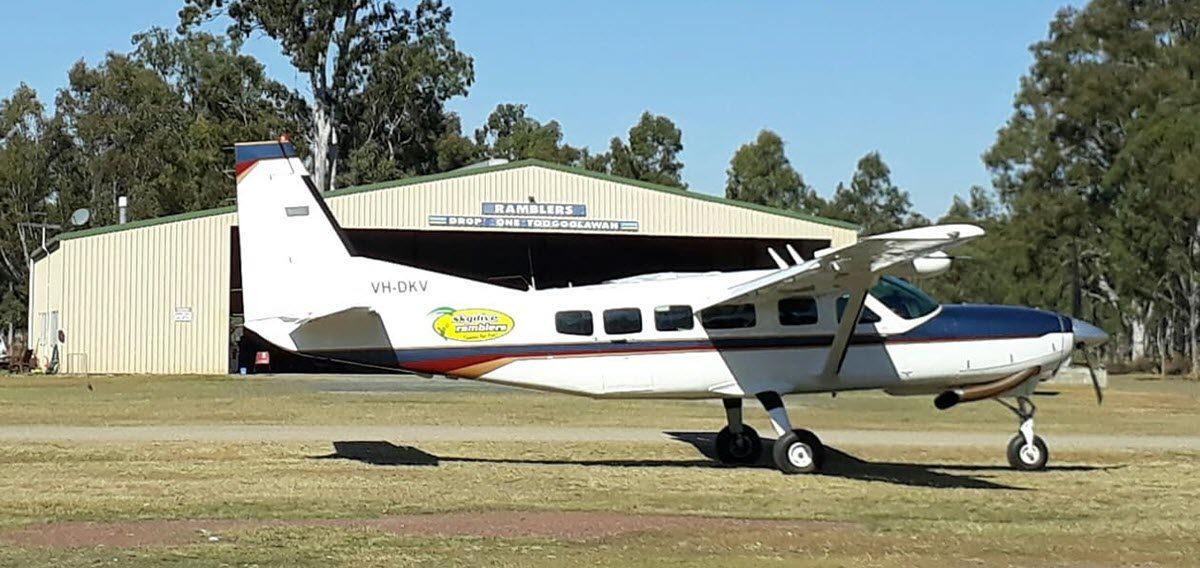 great big planes at skydive ramblers