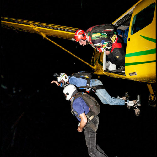 Skydiving at Night