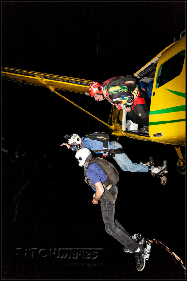 Skydiving at Night
