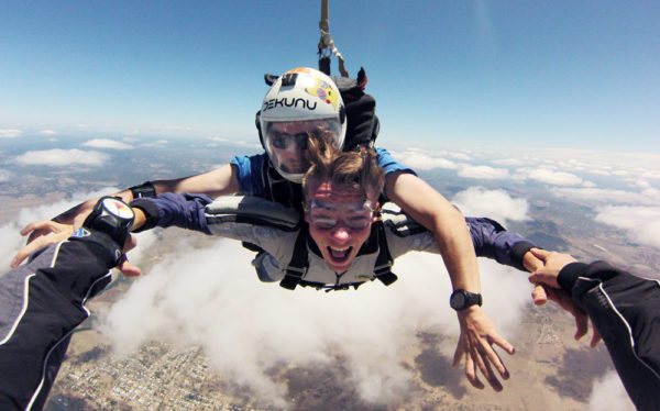 tandem skydiving at Skydive Ramblers