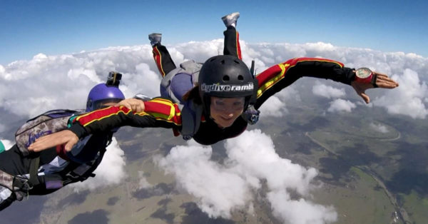 Accelerated Free Fall method - Solo Skydiving