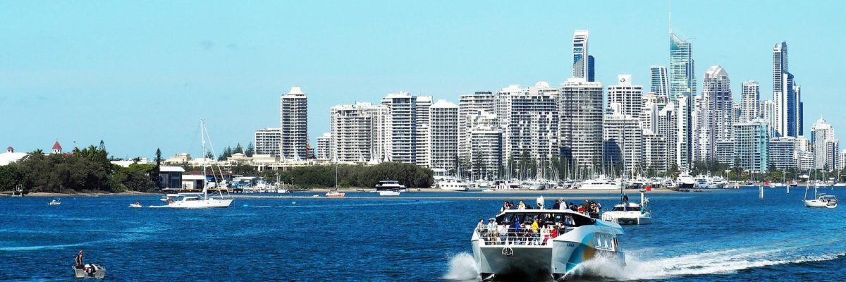 Photo of the Gold Coast Skyline from the ocean