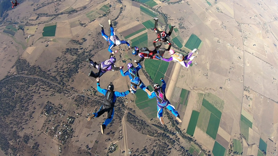APF B-license + Star Crest. Skydive Ramblers